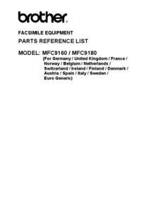 Part List Brother MFC9160