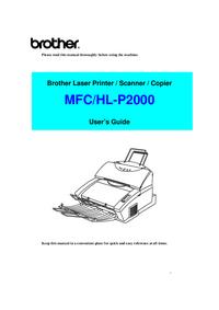 Gebruikershandleiding Brother HL-P2000