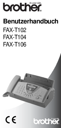Manuale d'uso Brother FAX-T104