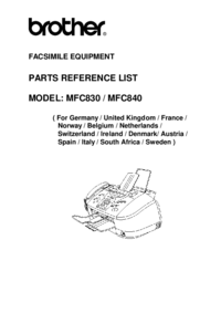 Part List Brother MFC840