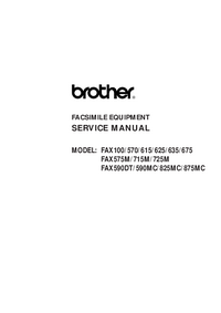 Manual de servicio Brother Fax575M