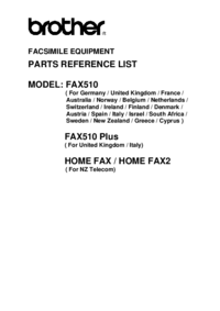 Part List Brother Home Fax (NZ Telecom)