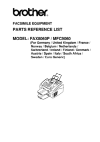 Part List Brother Fax8060P
