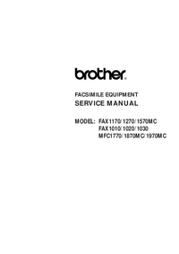 Servicehandboek Brother Fax1010