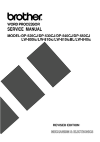 Service Manual Brother DP-525CJ