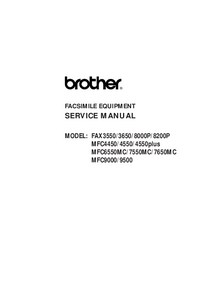 Manual de servicio Brother MFC9500