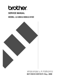 Service Manual Brother LX-910D