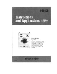 User Manual BruelKJAER 1613
