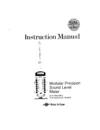 User Manual BruelKJAER BZ 7110