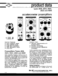 Fiche technique BruelKJAER 2623