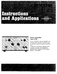 Manual del usuario BruelKJAER 2706