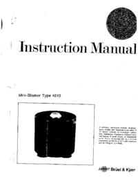 Manuale d'uso BruelKJAER 4810