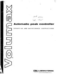 Serviço e Manual do Usuário CBS Volumax