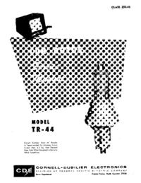 Servicehandboek CDE TR-44