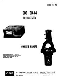Manual do Usuário CDE CDE CD-44