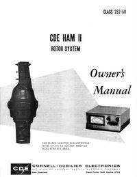 Manuale d'uso CDE CDE HAM II