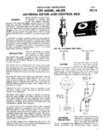 User Manual CDE AR-22R