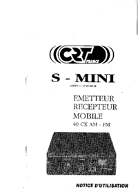 Manuel de l'utilisateur et Schéma cirquit CRT S-Mini