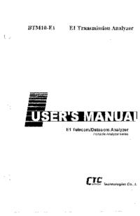 Руководство пользователя CTCUnion BTM10-E1