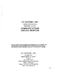 Обслуживание и Руководство пользователя CT_Systems 3100