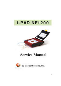 Service Manual CUMedicalSystems i-PAD NF1200