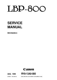 Servicehandboek Canon LBP-800