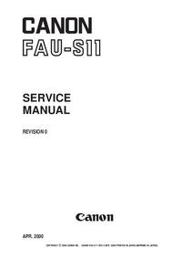 Manuale di servizio Canon FAU-S11