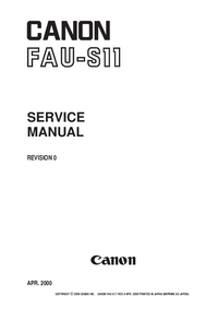 Service Manual Canon FAU-S11