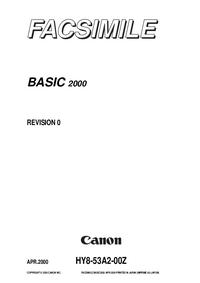 Manual de serviço Canon Basic 2000