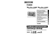 User Manual Canon PowerShot A450