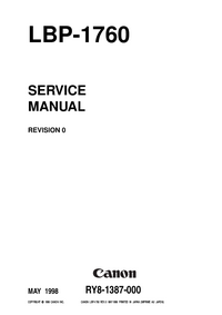 Service Manual Canon LBP-1760