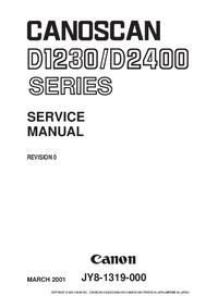 Instrukcja serwisowa Canon Canoscan D-2400