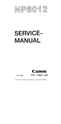 Manual de servicio Canon NP6012