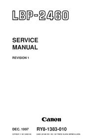 Руководство по техническому обслуживанию Canon LBP-2460