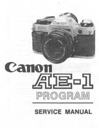 Instrukcja serwisowa Canon AE-1 Program
