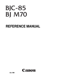Manual de servicio Canon BJ M70