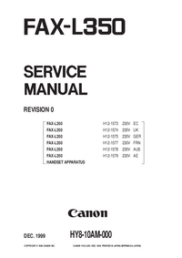 Service Manual Canon FAX-L350