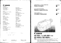 Manual del usuario Canon UC-V20HI