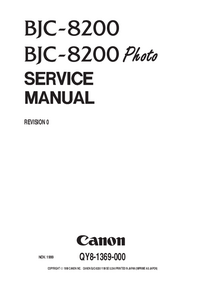 Service Manual Canon BJC-8200 Photo