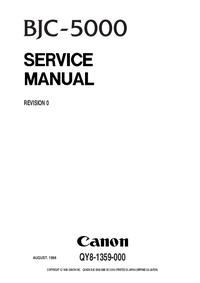 Manual de serviço Canon BJC-5000