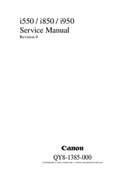 Manual de servicio Canon i850