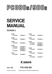 Manual de servicio Canon PC960