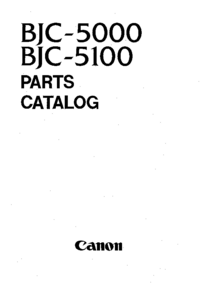Part List Canon BJC-5100