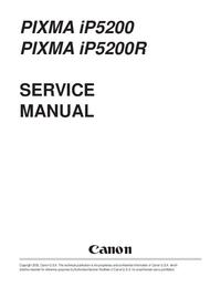 Manuale di servizio Canon PIXMA IP5200R
