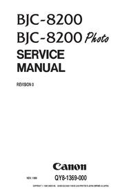 manuel de réparation Canon BJC-8200