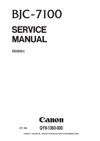 Manual de servicio Canon BJC-7100