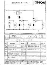 Cirquit diagramu Canton CT 800/1