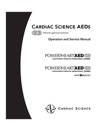 Service and User Manual CardiacScience PowerHeart AED G3 9300A