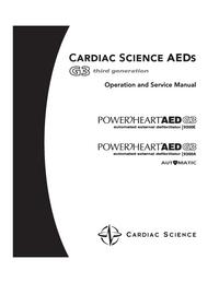 Serwis i User Manual CardiacScience PowerHeart AED G3 9300A