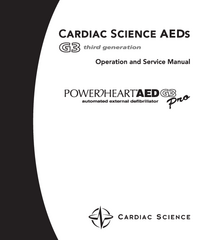 Service and User Manual CardiacScience Powerheart AED G3 Pro
